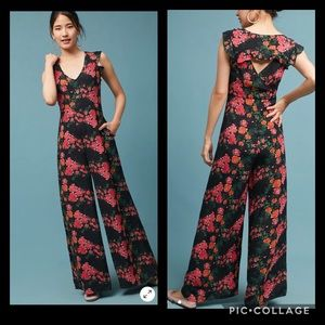 Anthropologie Tracy Reese floral print jumpsuit